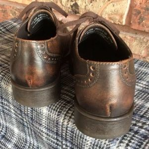 Bass Shoes - BASS Classics Mens 7.5 Brown Wingtip Oxford Shoe